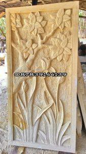 relief tumbuhan 50x100x5
