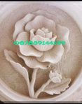 relief motif bunga mawar