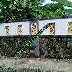 Batu alam hiasan dinding pagar