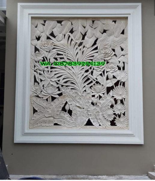 Roster Batu Alam Tumbuhan Bunga ukuran n 1,5 meter x3 meter