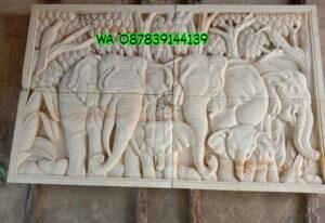 Ukiran batu alam motif gajah